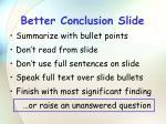 better conclusion slide