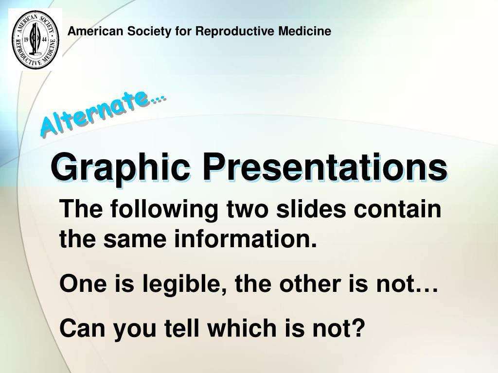 Graphic Presentations