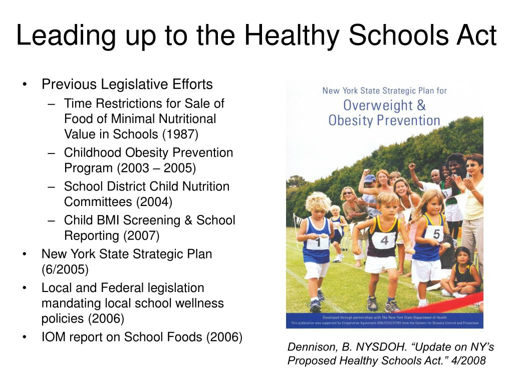 Leading up to the Healthy Schools Act