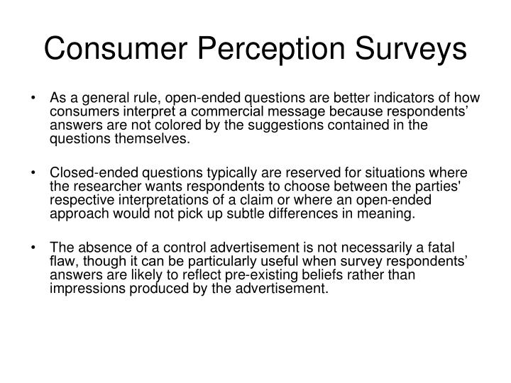 Consumer Perception Surveys