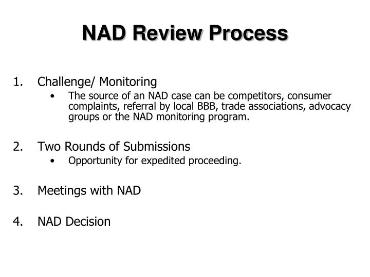 NAD Review Process