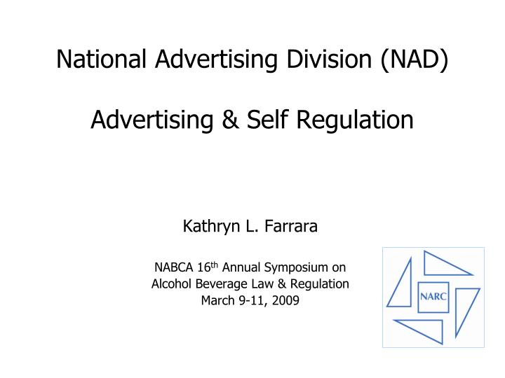 national advertising division nad advertising self regulation