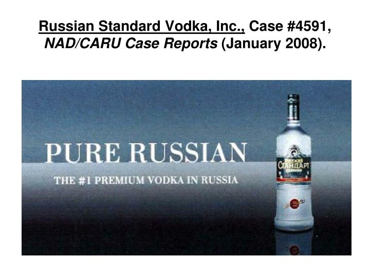 Russian Standard Vodka, Inc.,
