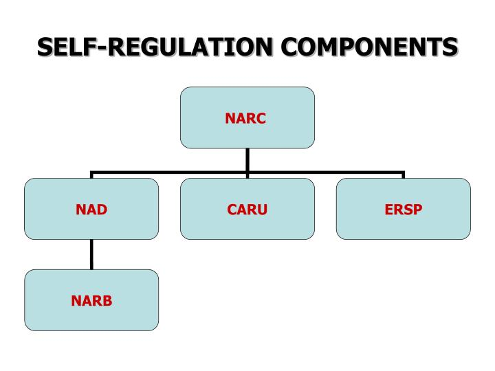 Self regulation components