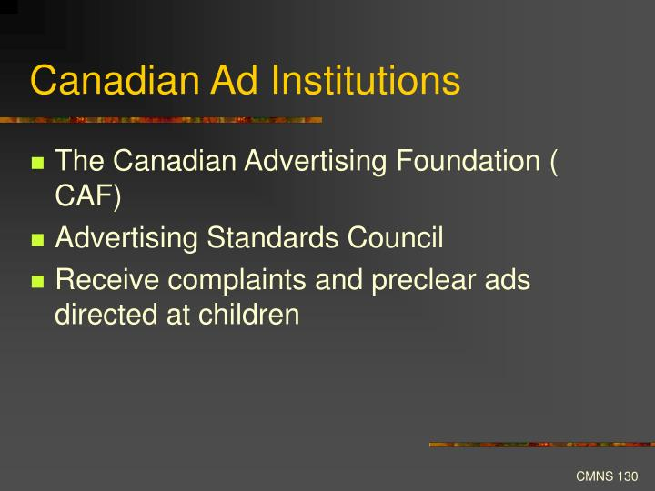 Canadian Ad Institutions