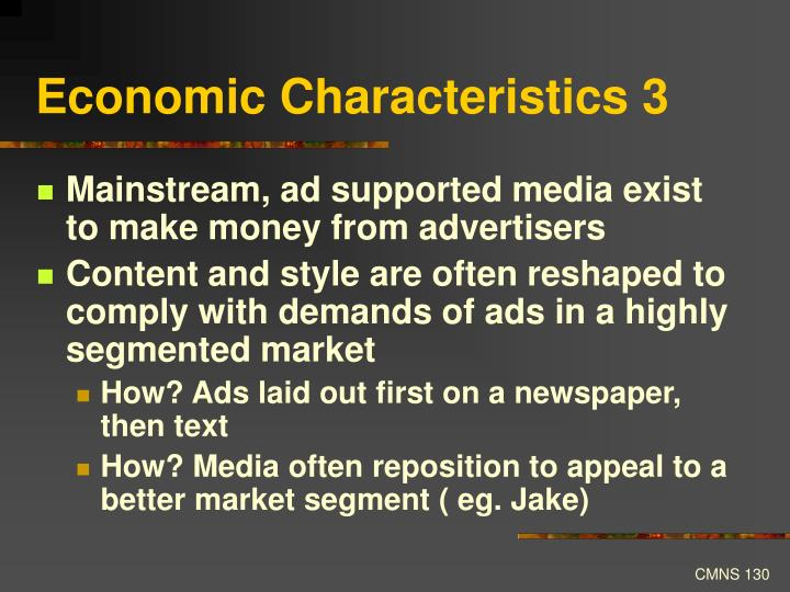 Economic Characteristics 3