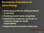 economic functions of advertising