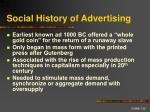 social history of advertising