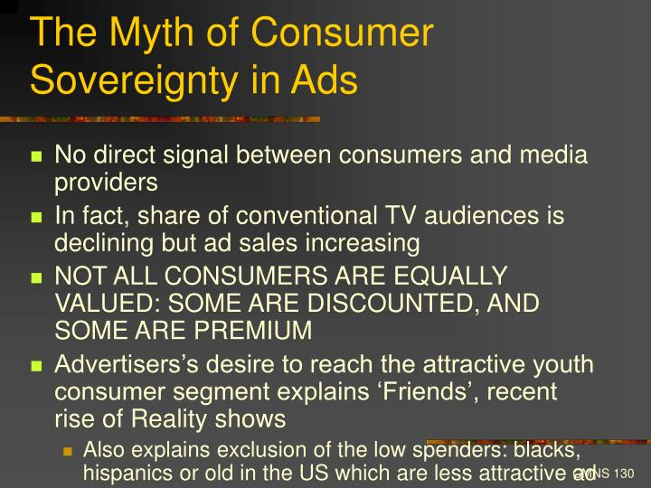 The Myth of Consumer Sovereignty in Ads