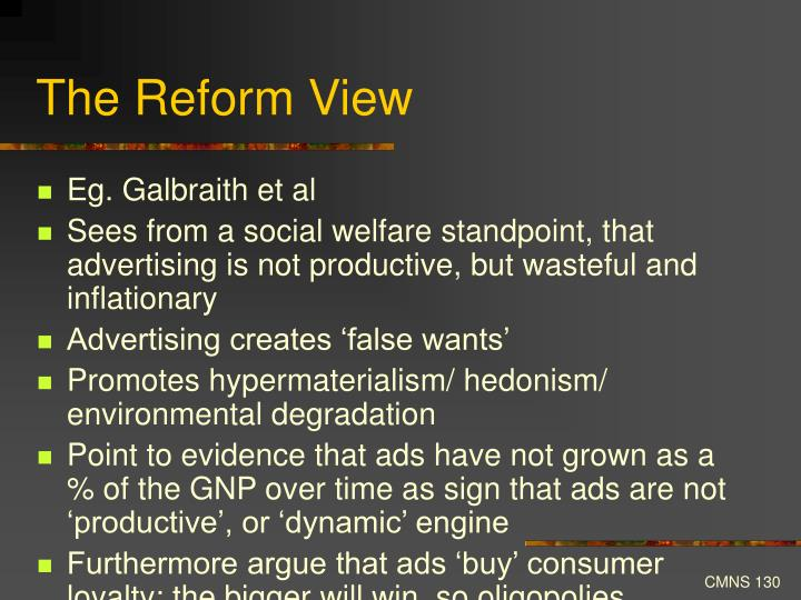 The Reform View