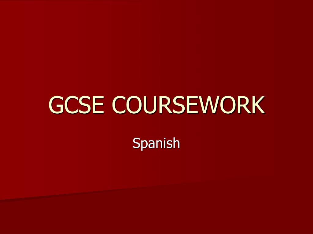 GCSE COURSEWORK
