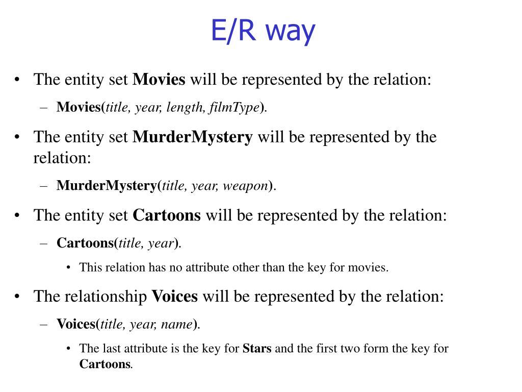 E/R way