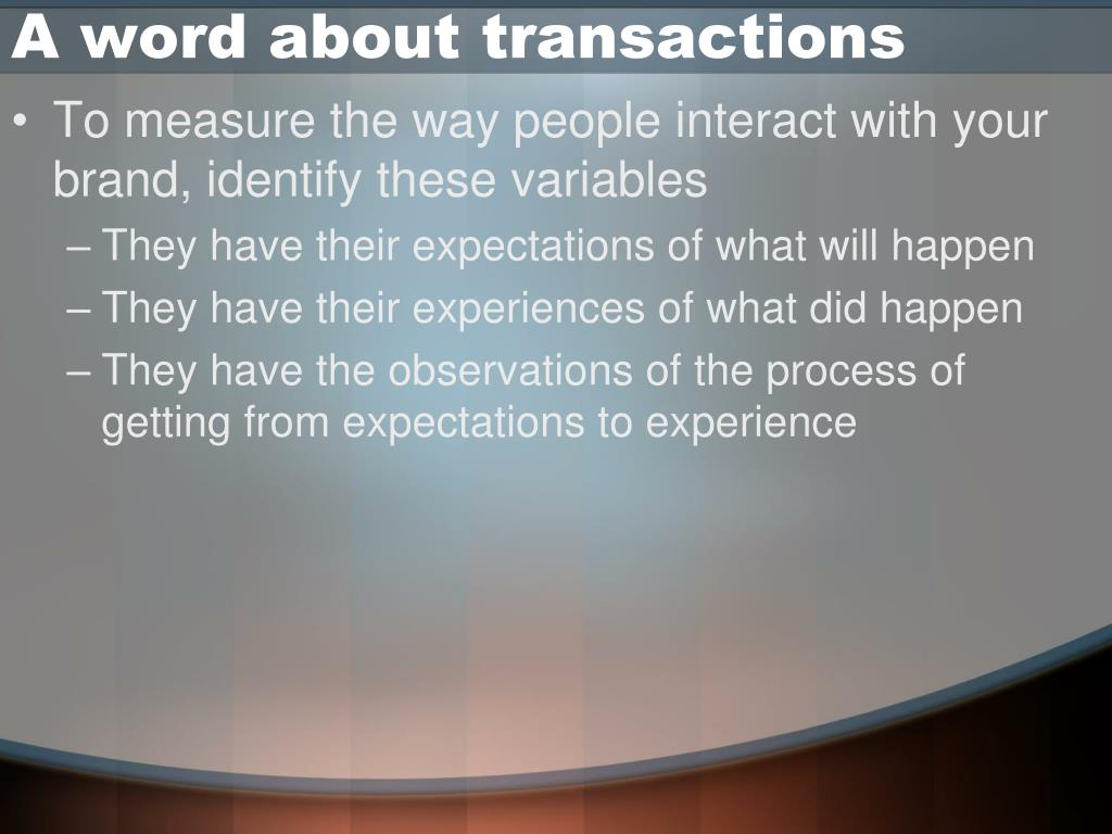 A word about transactions