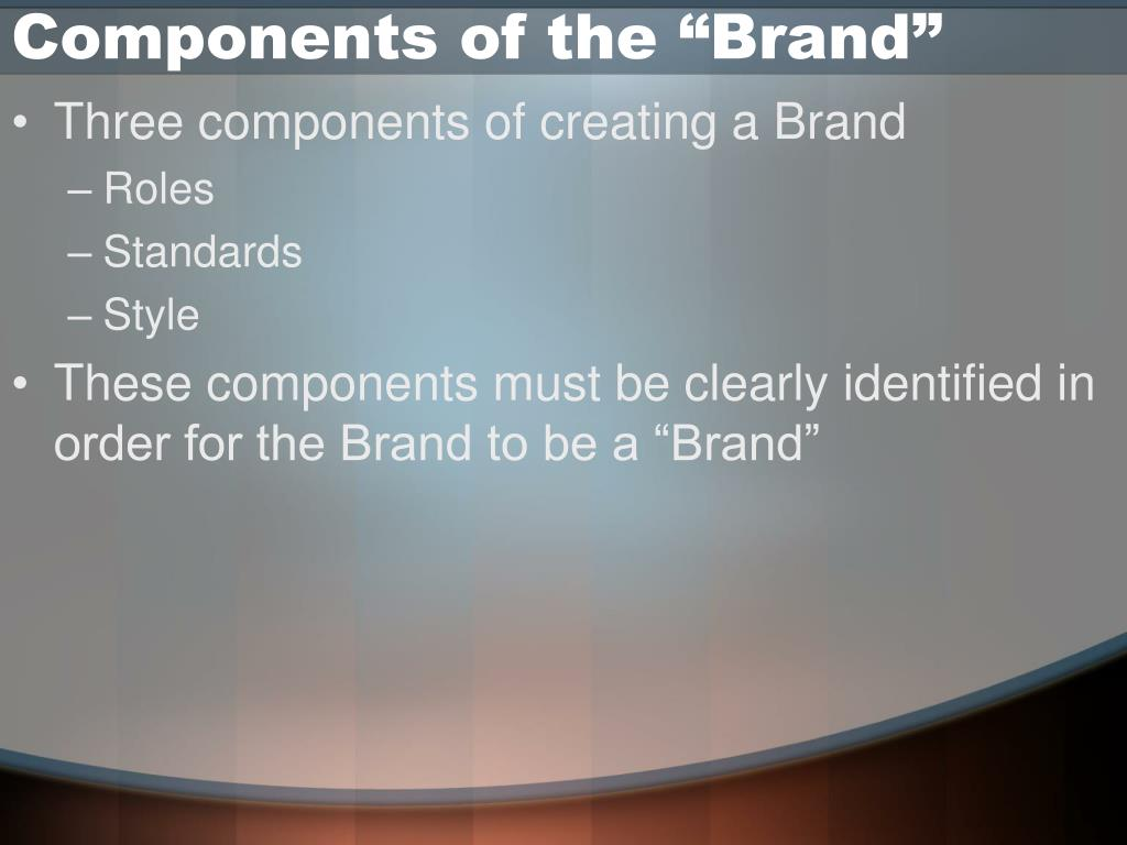 """Components of the """"Brand"""""""