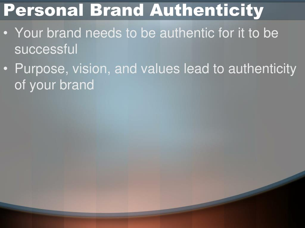 Personal Brand Authenticity