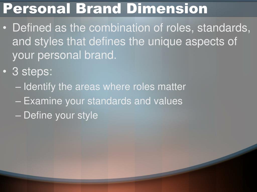 Personal Brand Dimension