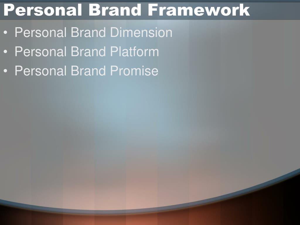 Personal Brand Framework