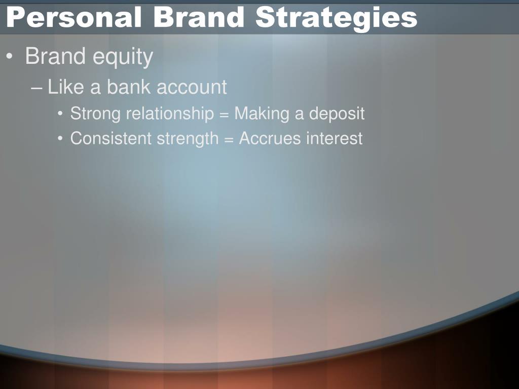 Personal Brand Strategies