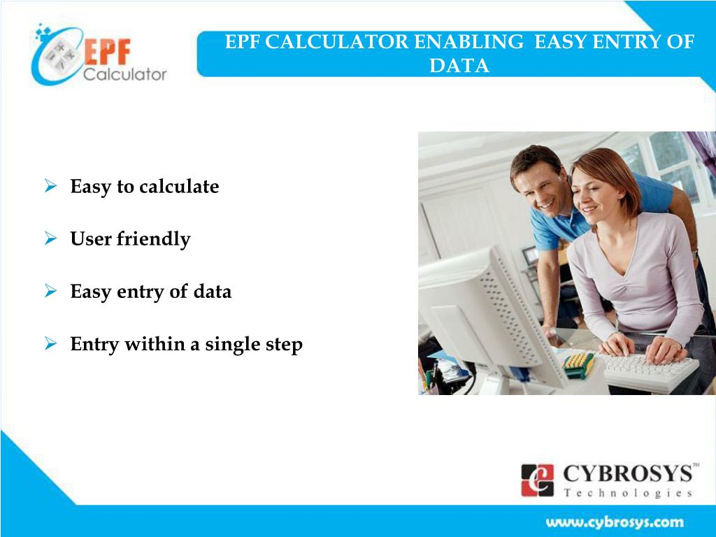 EPF CALCULATOR ENABLING  EASY ENTRY OF DATA
