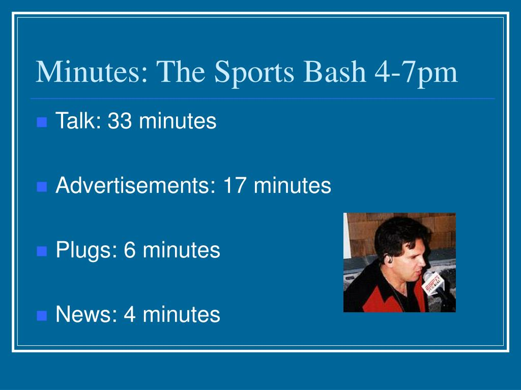 Minutes: The Sports Bash 4-7pm