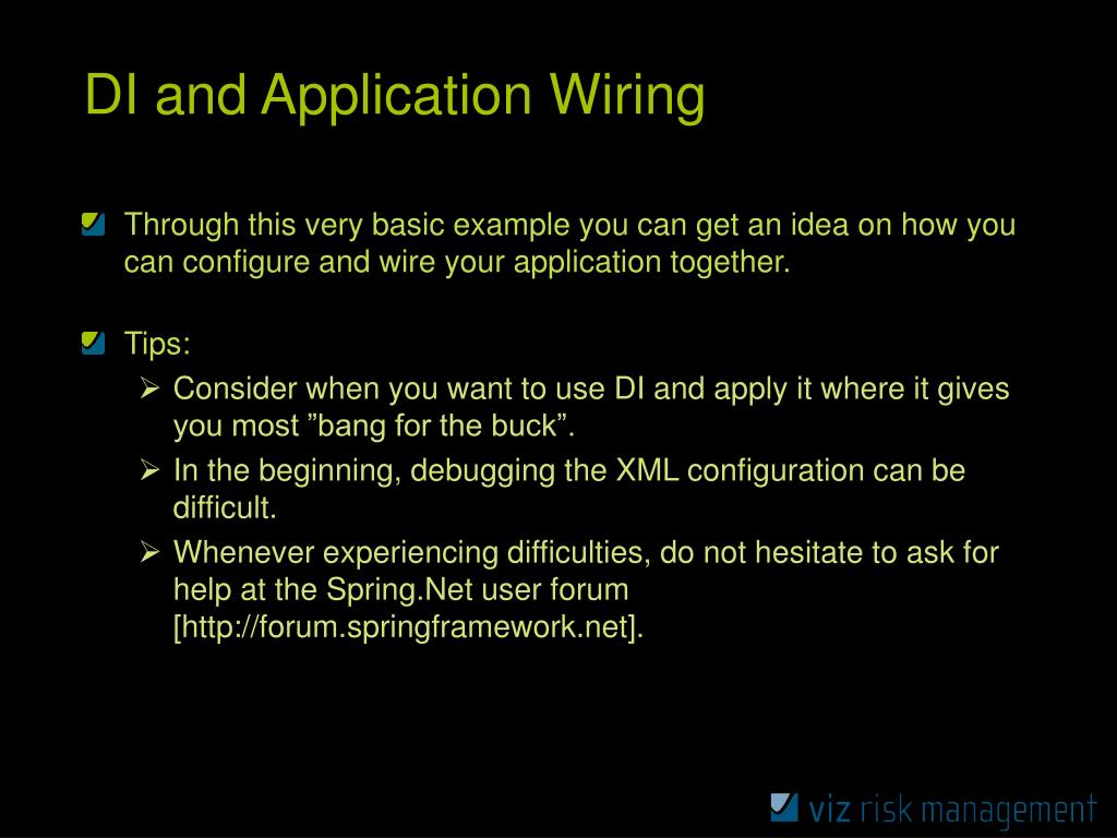 DI and Application Wiring