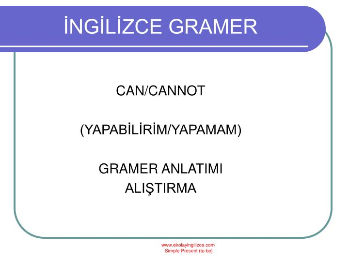 İNGİLİZCE GRAMER