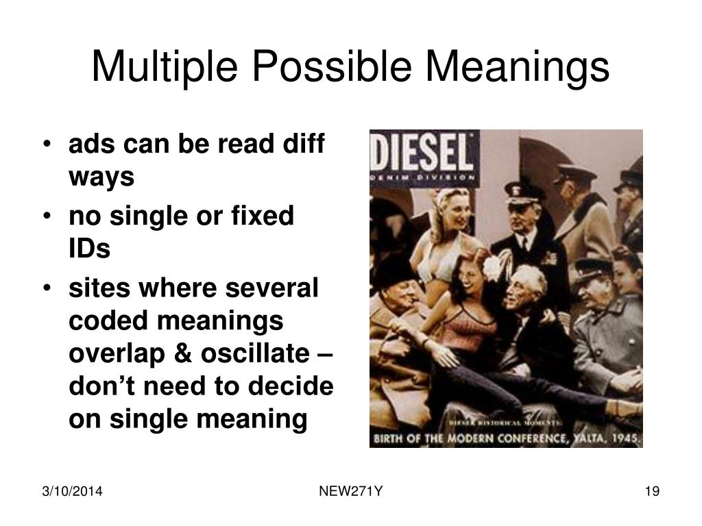 Multiple Possible Meanings