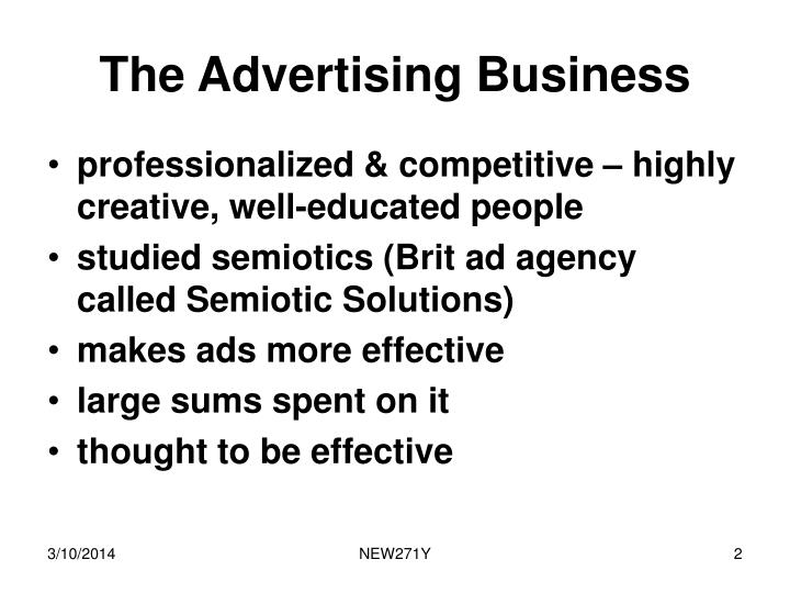 The advertising business