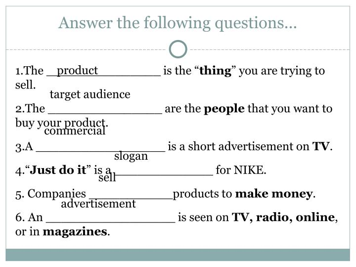 Answer the following questions...
