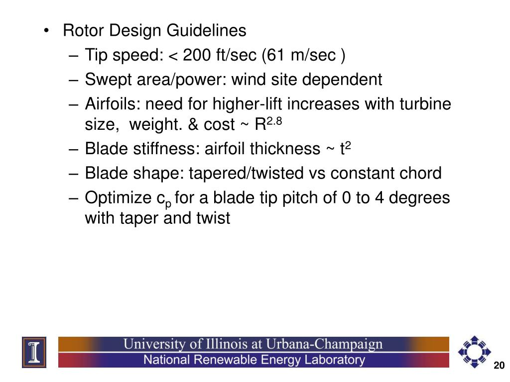 Rotor Design Guidelines