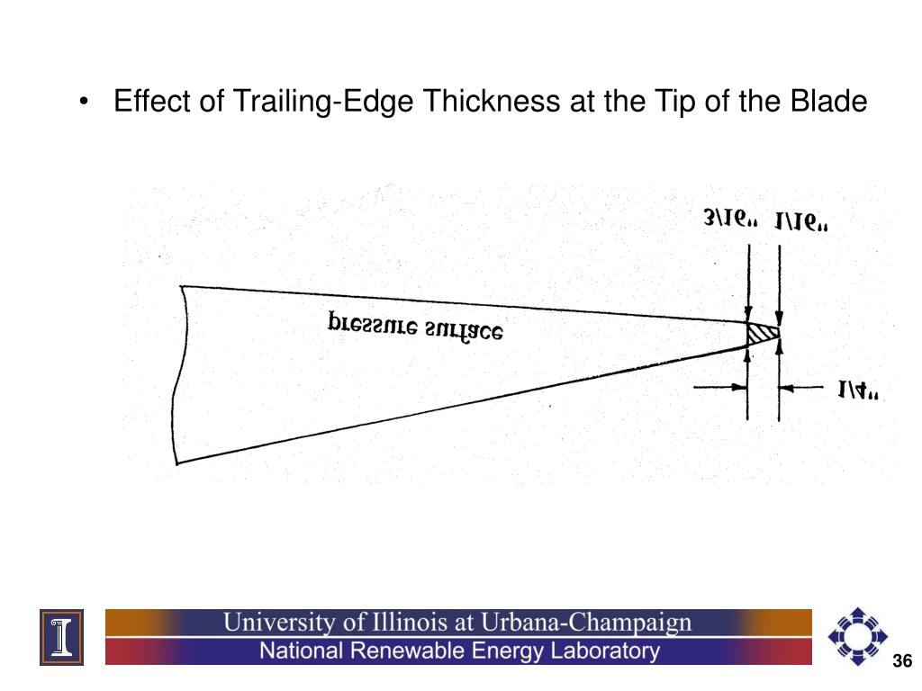 Effect of Trailing-Edge Thickness at the Tip of the Blade