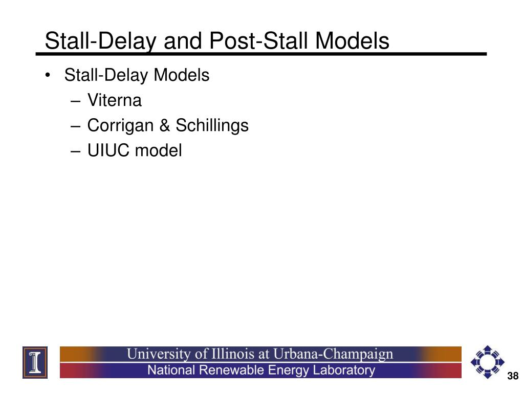 Stall-Delay and Post-Stall Models