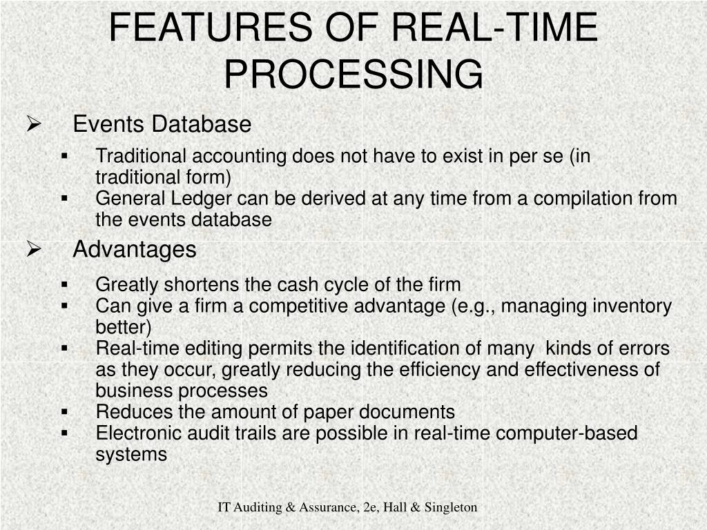 FEATURES OF REAL-TIME PROCESSING