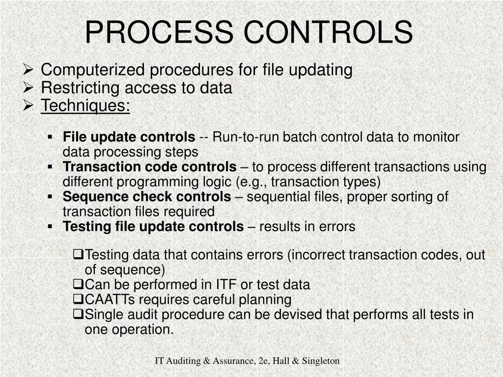 PROCESS CONTROLS