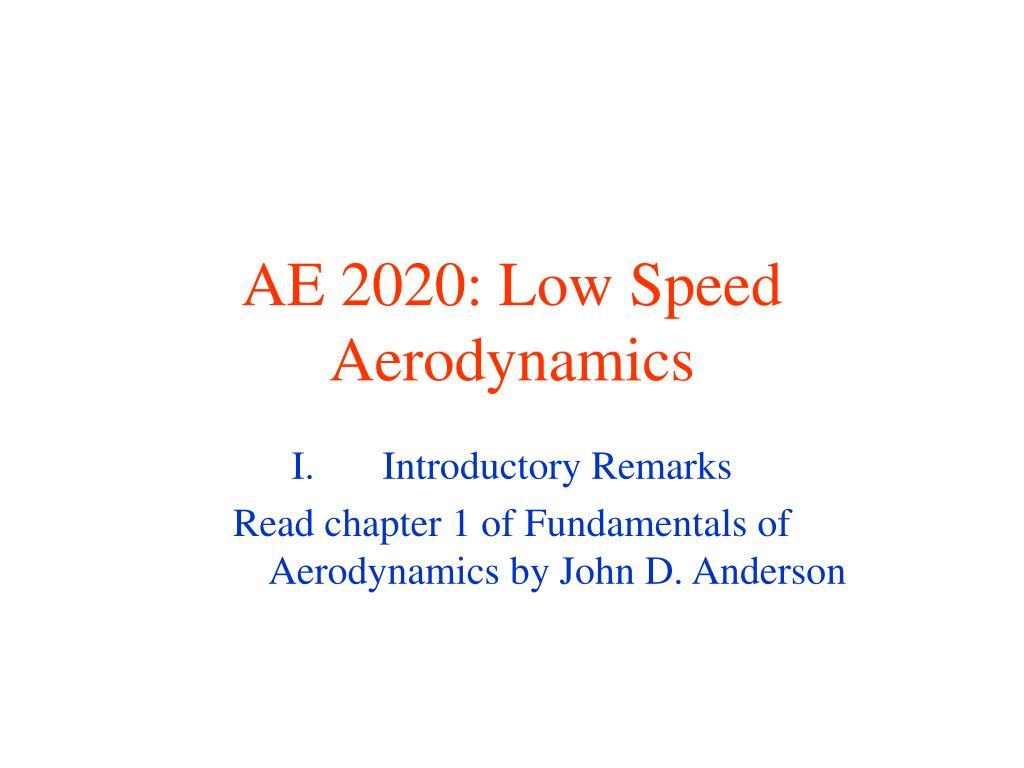 ae 2020 low speed aerodynamics