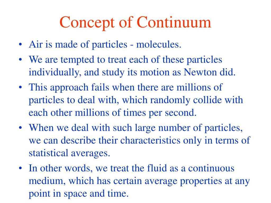 Concept of Continuum