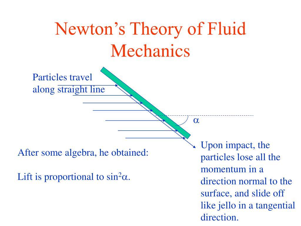 Newton's Theory of Fluid Mechanics