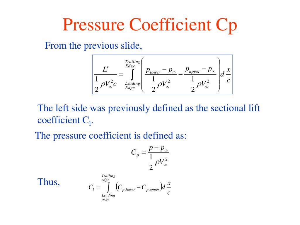 Pressure Coefficient Cp