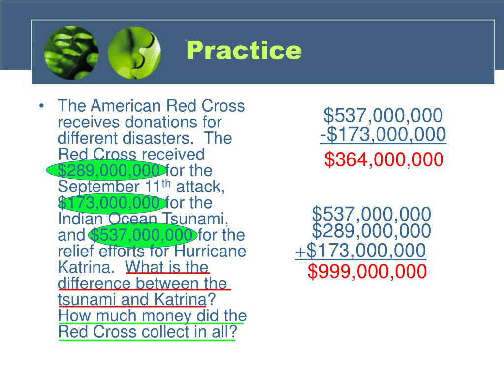 The American Red Cross receives donations for different disasters.  The Red Cross received $289,000,000 for the September 11