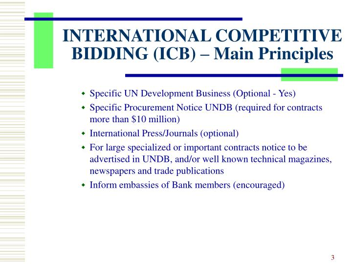 International competitive bidding icb main principles3