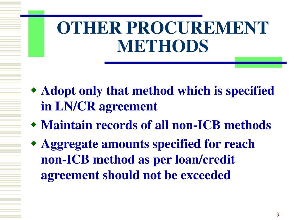 OTHER PROCUREMENT METHODS
