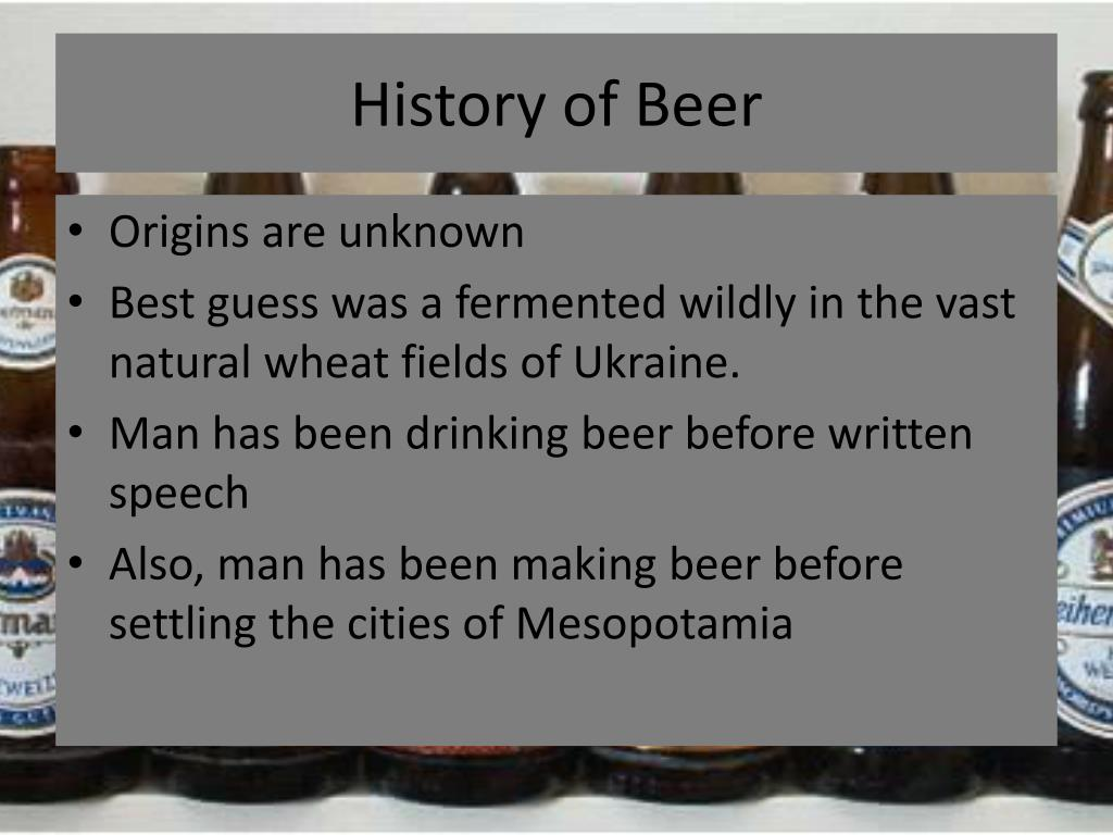 History of Beer