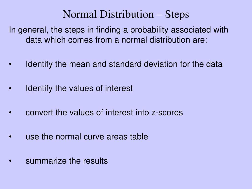 Normal Distribution – Steps
