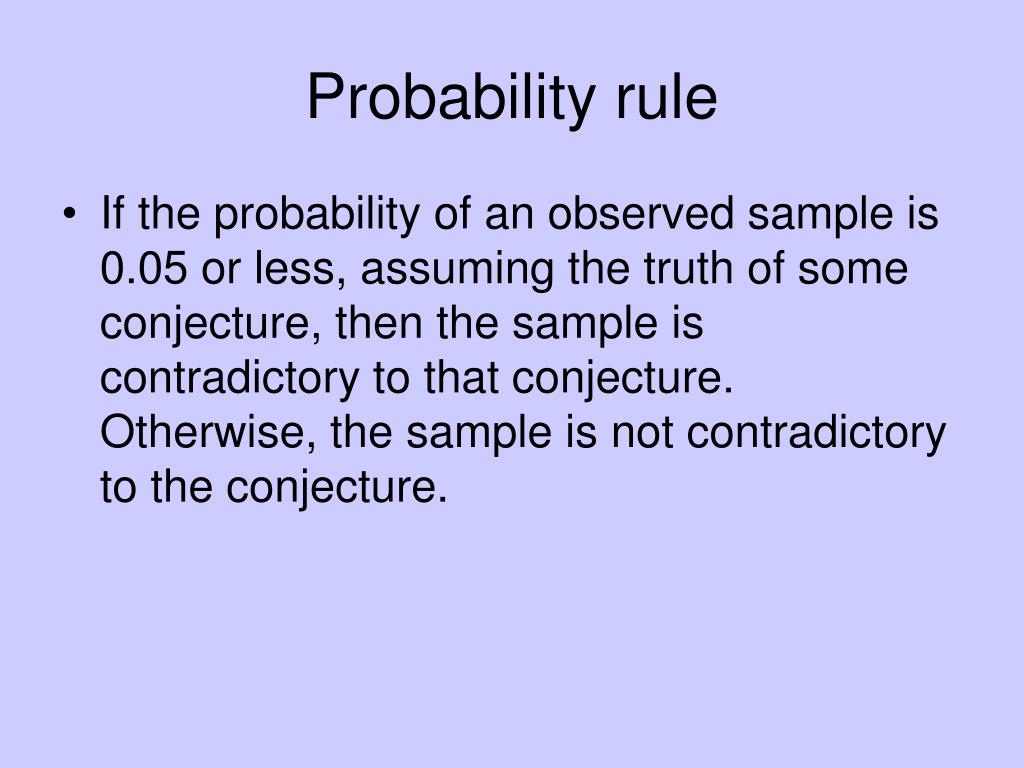 Probability rule