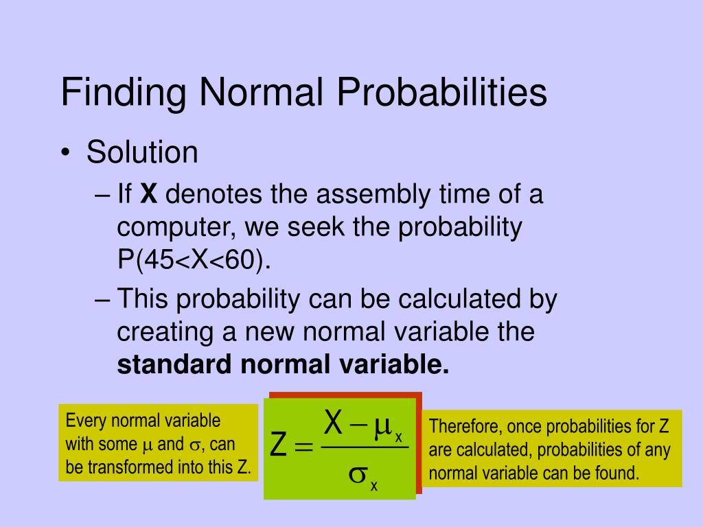 Finding Normal Probabilities