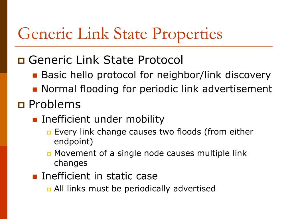 Generic Link State Properties