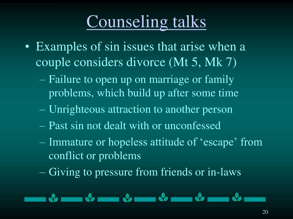 Counseling talks