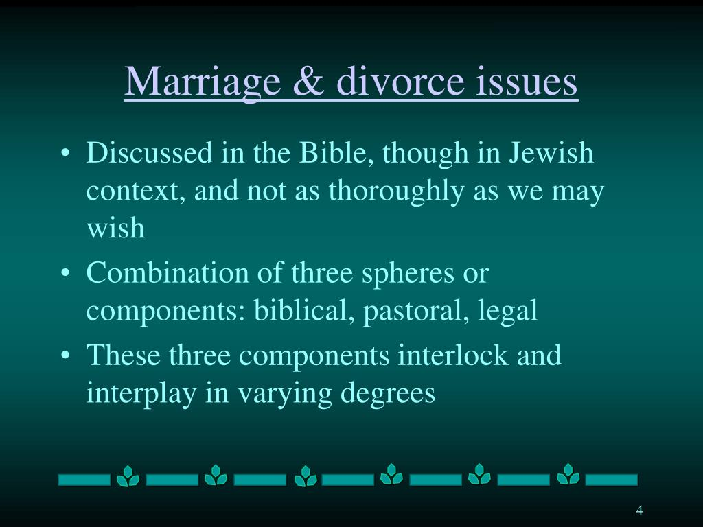 Marriage & divorce issues
