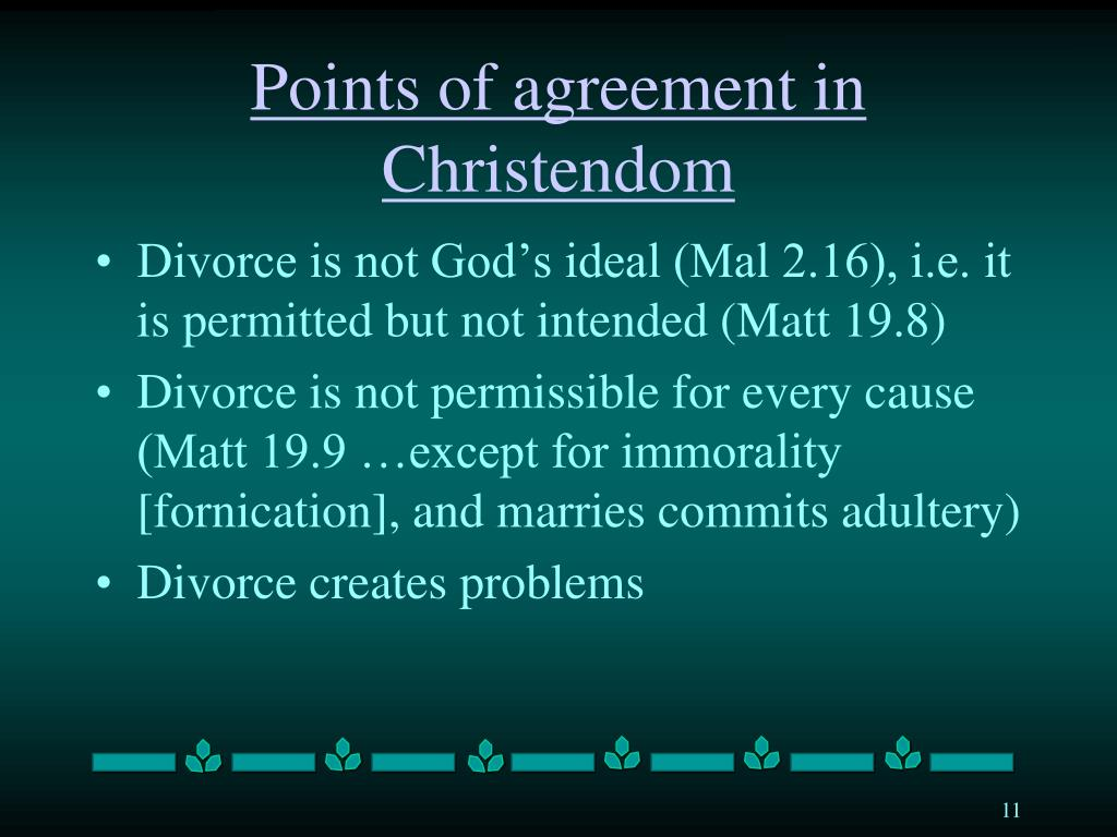 Points of agreement in Christendom
