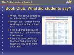 book club what did students say9